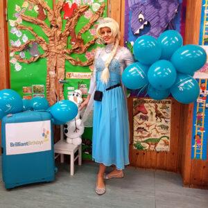 Queen Elsa Frozen Party Host London