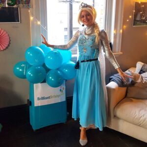 Queen Elsa lookalike Frozen Party Host