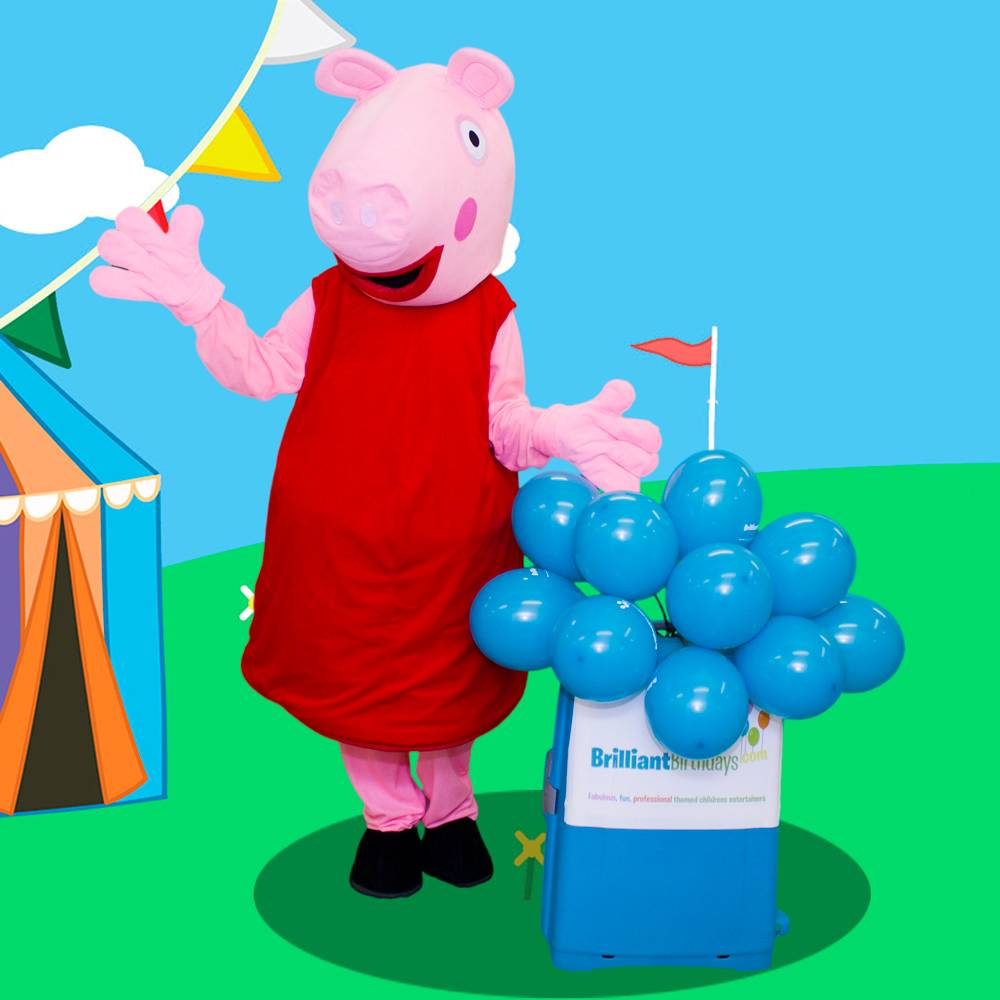 Peppa Pig Mascot Themed Party Entertainers