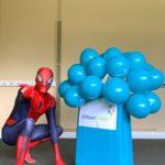Spiderman lookalike host London