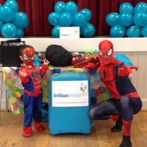 Spiderman Entertainer visiting a children's event