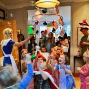 Alice In Wonderland Bubble Machine Play Time with Children