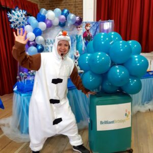 Olaf Lookalike Frozen Party Host London