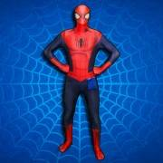 Superhero Spiderman stood infront of a spider web