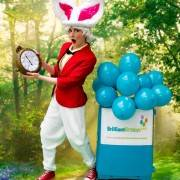 White Rabbit Alice In Wonderland Themed Party Entertainer London
