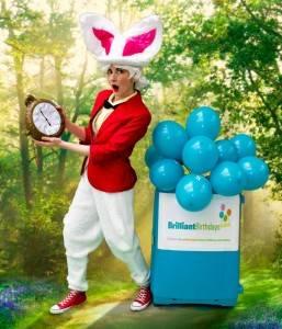 White Rabbit Alice In Wonderland Themed Party Entertainer London