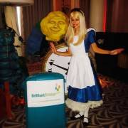 Alice In wonderland at a children's party
