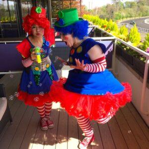 Clumsy Clown Duo Bubble Fun