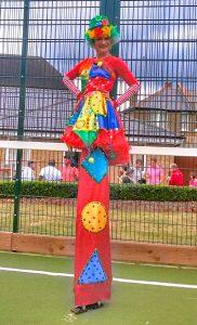 Stiltwalking Clown Children's Entertainer London