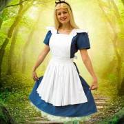 Alice In Wonderland in the forest