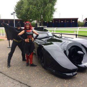Batman and Batwoman Lookalike Entertainers