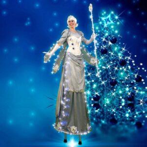 Christmas Fairy On Stilts