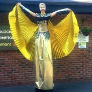 Amazing Golden Stilt Walkers