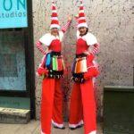 Miss Santa's Stilt Walking