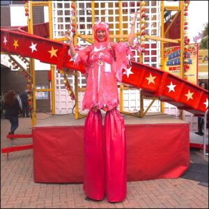Stilt Walking Pink Fairy