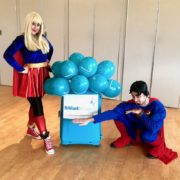 Supergirl & Superman Party Hosts