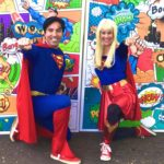 Supergirl and Superman here to save the day!