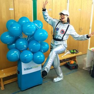 Spacewoman kids party entertainment