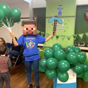 Minecraft Children's Party Host London