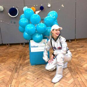 Space Woman Party Entertainment host