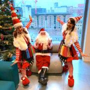 Miss Santa Duo party with Santa