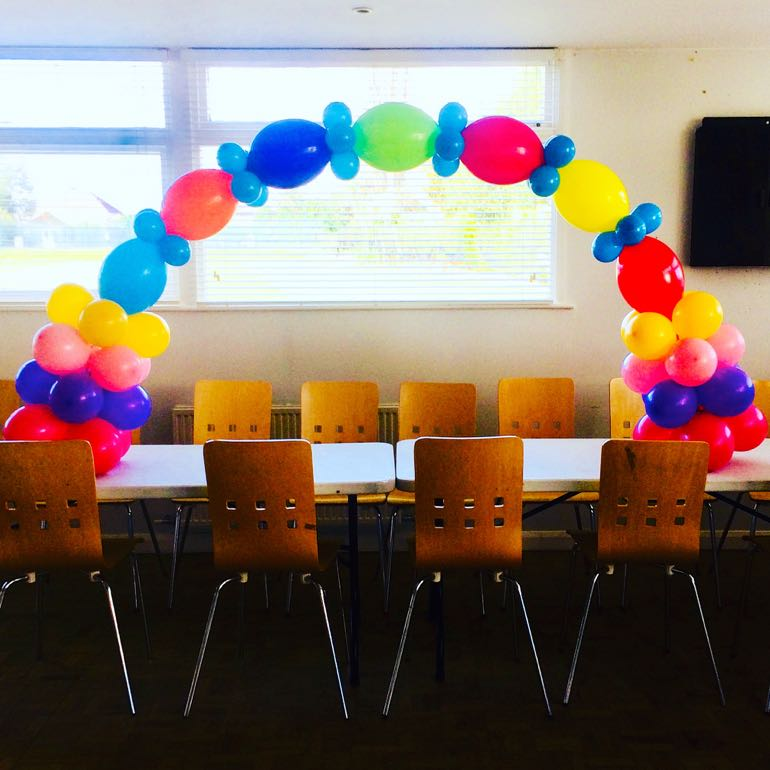 Rainbow Party Balloon Decoration