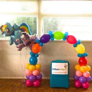 Rainbow Balloon Archways