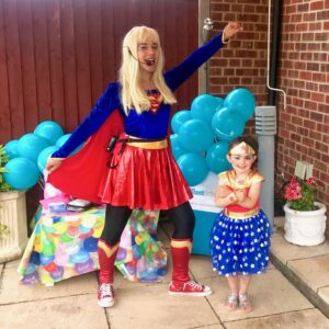 Supergirl Lookalike Party Entertainment