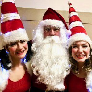 Santa Claus with The Miss Santas