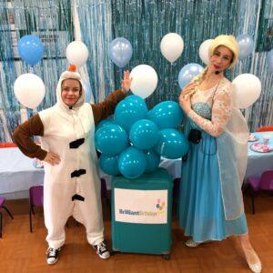Queen Elsa Lookalike & Olaf Duo Frozen Party