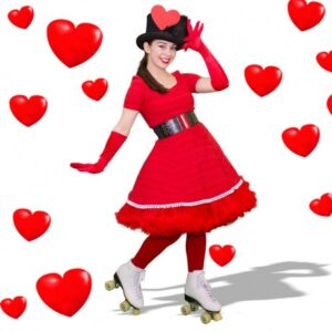 Valentine's Day Roller Skaters - A2 - LR