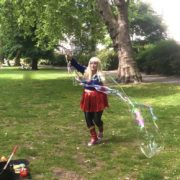 Supergirl Bubble Performer London