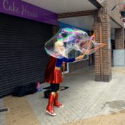 Bubble Fun with Supergirl