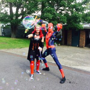 Bubble Entertainers available for hire