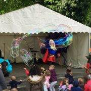 Giant Bubble meet & Greet artists available for hire in the London Area