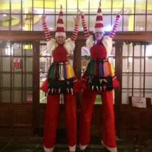 Stiltwalking Duo available with Balloon Modelling entertainment