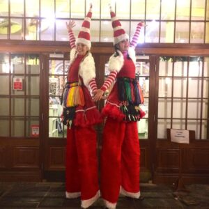 Miss Santa Duo available for Christmas Lights Switch ons