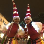 Led Light Stilt Walkers available for hire as Miss Santa x 2