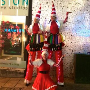 Miss Santa Balloon Modellers on Stilts available for hire!