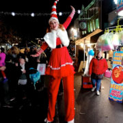 Stilt Walking Miss Santa Entertainer