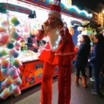 Stilt Walking Miss Santa