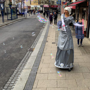 Silver Fairy Stilt Walker