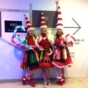 Miss Santa Trio Balloon Modellers