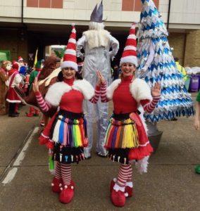 The Miss Santa Christmas Balloon Modellers