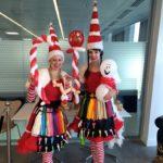 Balloon Modelling Miss Santas