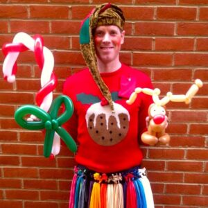 Christmas Elf Balloon Modelling