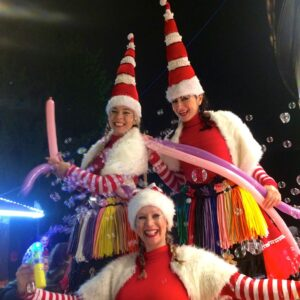 Miss Santa Balloon Modelling Trio