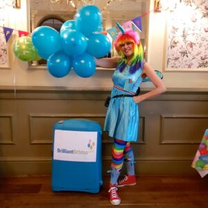 Rainbow Unicorn Childrens Party Host London
