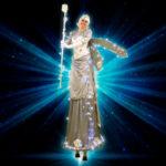 Silver Light Up Christmas fairy