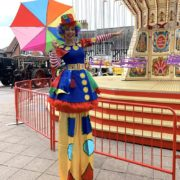 Clumsy Clown On Stilts